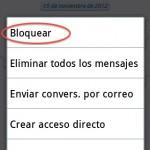 Como bloquear un contacto en Wassap para Android